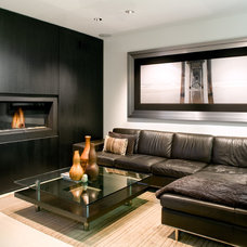 Contemporary Family Room by JWT Associates