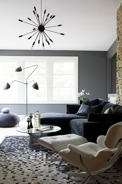 Contemporary Family Room by Heather Garrett Design