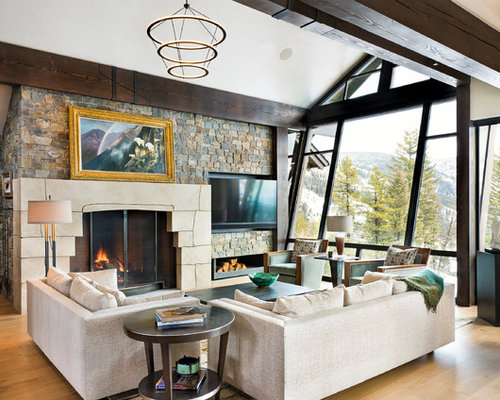 rustic chic family room contemporary living h for design ideas