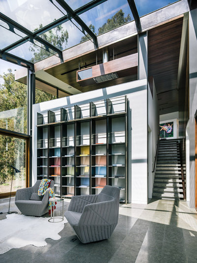 Contemporary Family Room by Fougeron Architecture FAIA