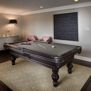 Rug Under Pool Table Houzz - Pool table movers wichita ks