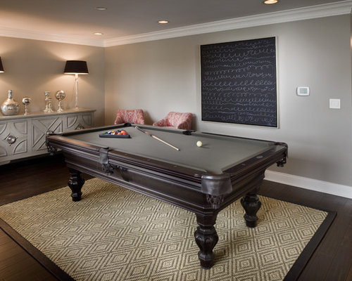 Rug Under Pool Table | Houzz