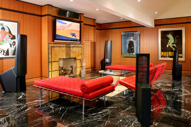 Modern Family Room by Thyme & Place Design LLC