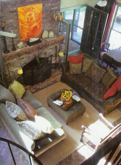 Rustic Family Room by Ellen Kennon