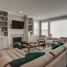 Contemporary Family Room by Meg Corley Premier Interiors