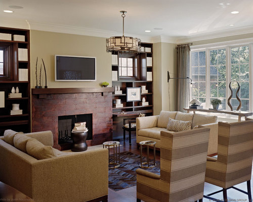 Tv above desk home design ideas pictures remodel and decor for Above tv decor