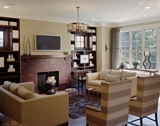 Traditional Family Room by Dunlap Design Group, LLC