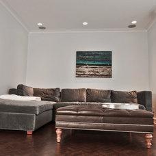 Contemporary Family Room by Bridgit Kotler Bienstock - BKB Interiors