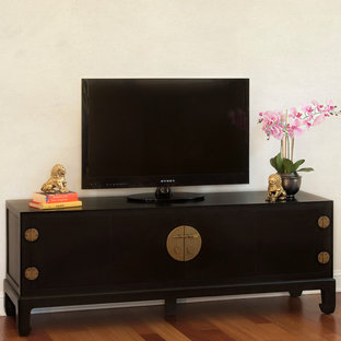 Black TV Stand Cabinet - Chinese Ming Style