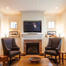 Craftsman Tv Above Fireplace Home Design Photos Decor Ideas