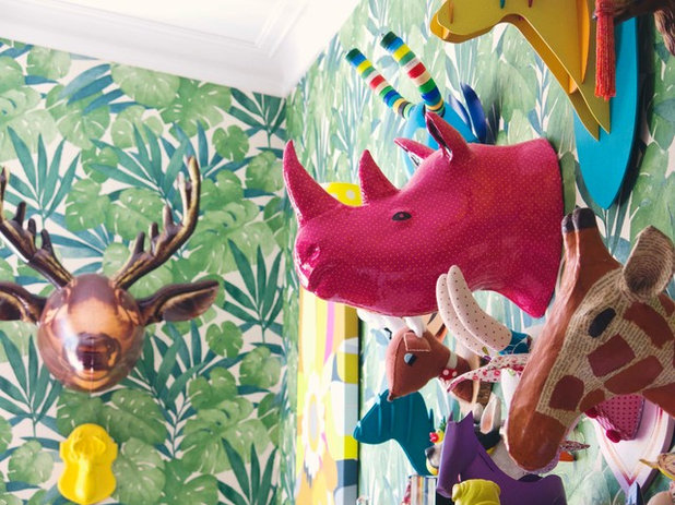 Eclectic Family Room by Alex Fulton Design