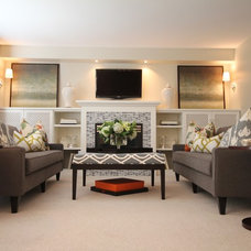 Contemporary Family Room by IMBUE Merchandising & Design