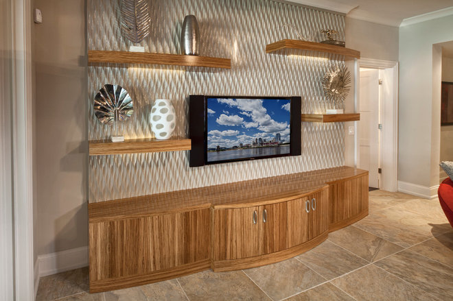 Eclectic Family Room by Don Justice Cabinet Makers