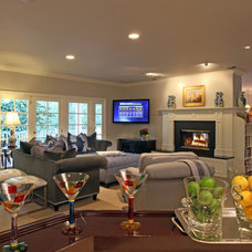 Eclectic Family Room by Von Der Ahe Interiors, Inc.