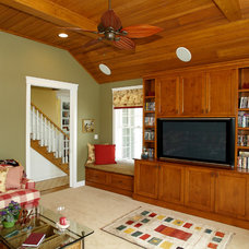 Traditional Home Theater by Boardwalk Builders