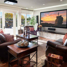 Traditional Family Room by Crystal Creek Homes