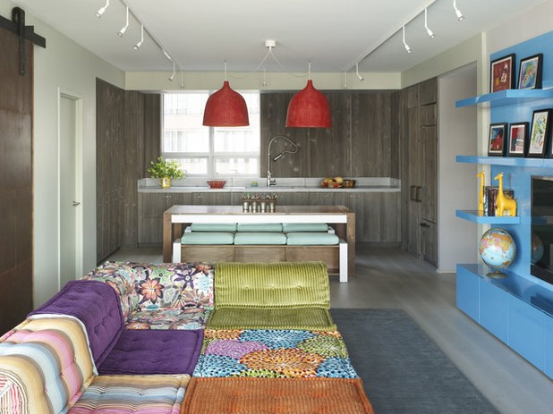Eclectic Family Room by Incorporated