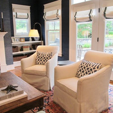 Contemporary Family Room by Simply Wesley, LLC