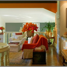 Eclectic Family Room by Tracy Murdock Allied ASID