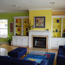 Eclectic Family Room by JTR  Contractors Inc.