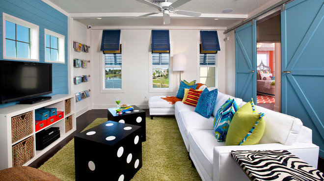 Beach Style Family Room by Masterpiece Design Group