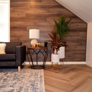 Wohnzimmer Mit Brauner Wandfarbe Und Vinylboden Ideen Design