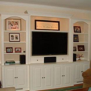 bookcase entertainment cabinetry , built in