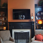 Bookcases And Fireplace Mantels Traditional Family