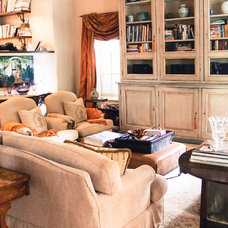 Eclectic Family Room by Monica Kovacic