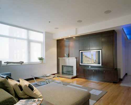 Off Center Fireplace Houzz