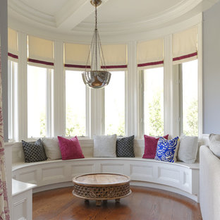 Family room - large transitional family room idea in Boston