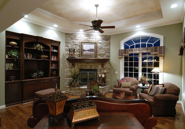 Traditional Family Room by Walker Homes LTD