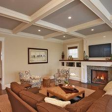 Contemporary Family Room by Finecraft Contractors, Inc.