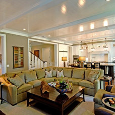 Traditional Family Room by Jill Wolff Interior Design