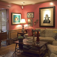 Traditional Family Room by Diane Bennett Bedford