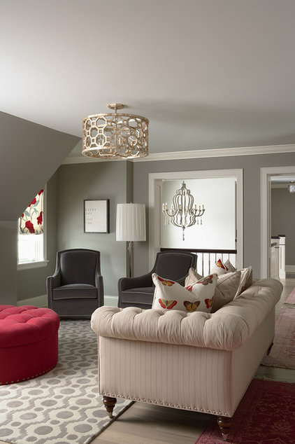 contemporary family room by Martha O'Hara Interiors