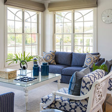 Transitional Family Room by Highgate House