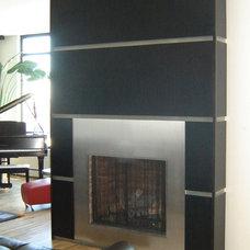 Contemporary Family Room Bridgewater Fireplace, Fireplace