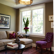 Transitional Family Room by Gillian Gillies Interiors (GGI)