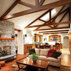 Contemporary Family Room by HartmanBaldwin Design/Build