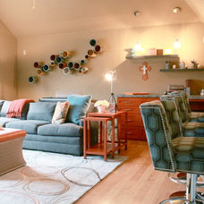 Eclectic Family Room by Traci Connell Interiors