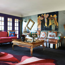 Eclectic Family Room by Unconscious On Canvas