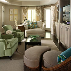 Eclectic Family Room by Design Theory Interiors of California, Inc