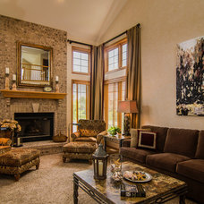Traditional Family Room by Angelo Design
