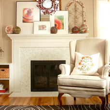 Traditional Family Room by Modwalls