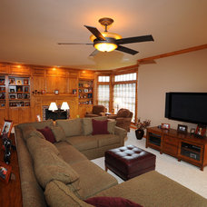 Traditional Family Room by S.J. Janis Company, Inc.