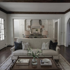 transitional family room by Castro Design Studio