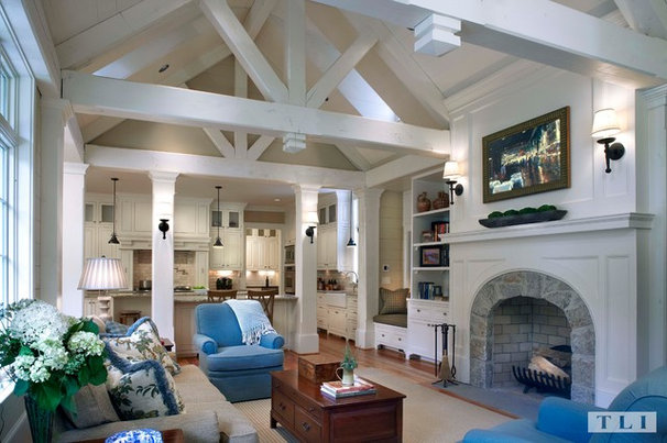 Traditional Family Room by Tillman Long Interiors