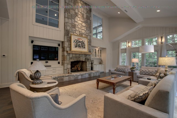 Traditional Family Room by Kemp Hall Studio