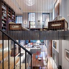 Modern Family Room by Leone Design Studio